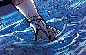 Simon-Pierre commence à marcher sur l'eau